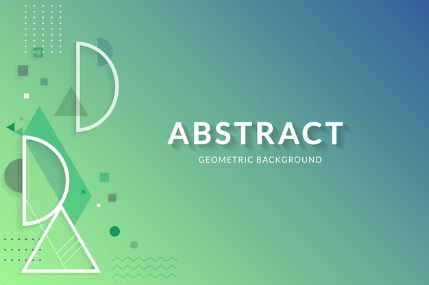 Creative geometric design space Free Vector