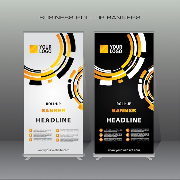 premium vector creative geometric roll up banner design template https www freepik com profile preagreement getstarted 3520480