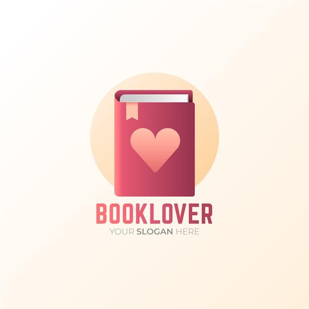 Креативный градиентный шаблон логотипа книги Бесплатные векторы