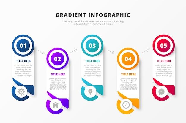 크리 에이 티브 그라데이션 비즈니스 Infographic 프리미엄 벡터