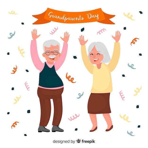 Sfondo di giorno di nonni creativi Vettore gratuito