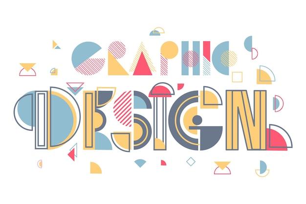 創造的なグラフィックデザインのレタリング 無料ベクター