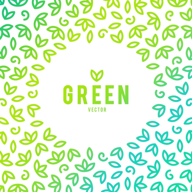 Creative green house concept logo template Free Vector
