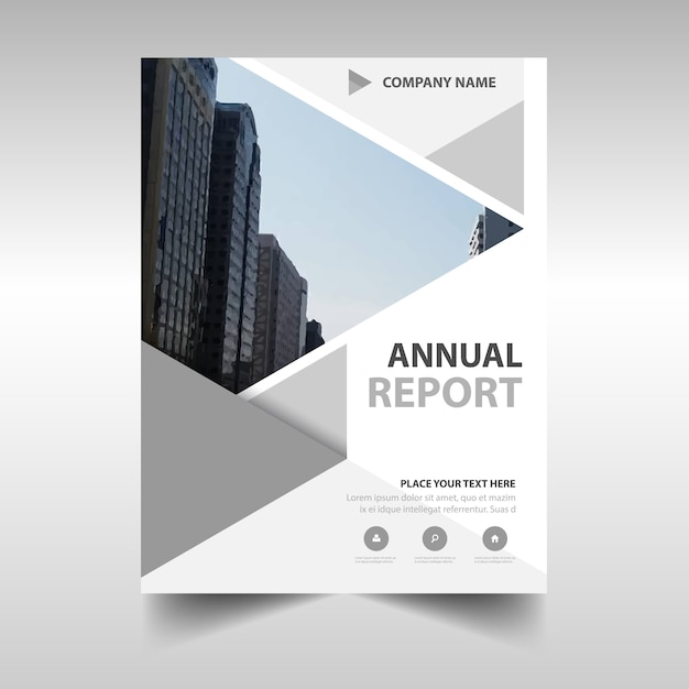 creative grey annual report cover vector