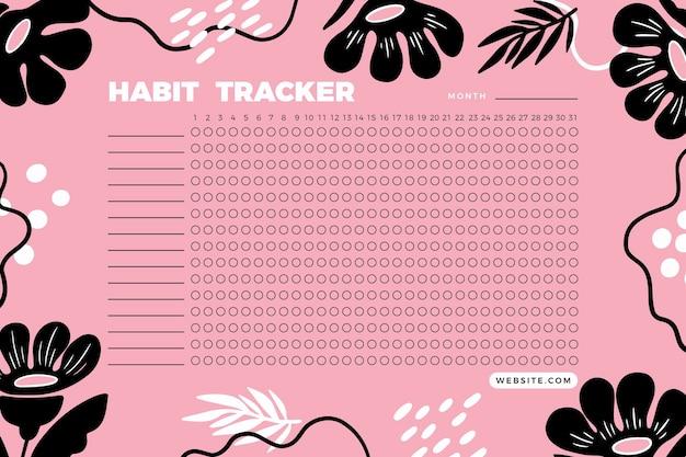 Creative habit tracker template Free Vector