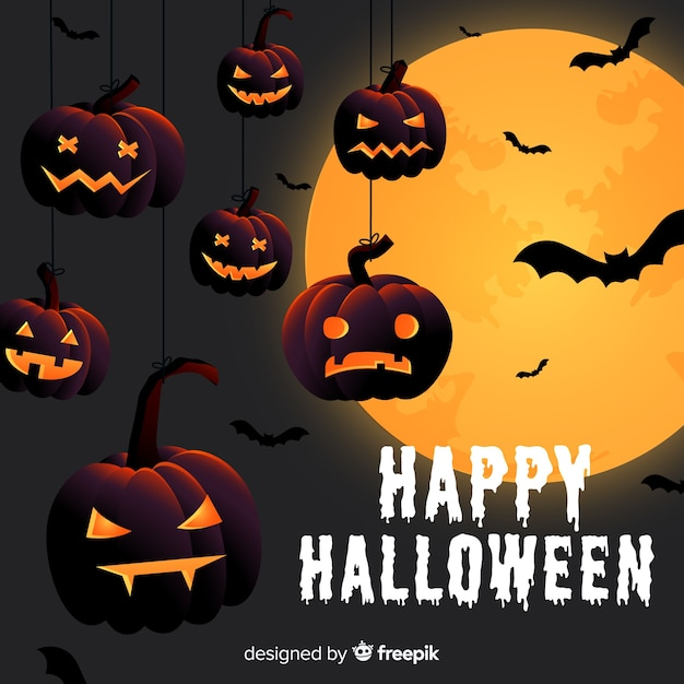 Creative halloween background Free Vector