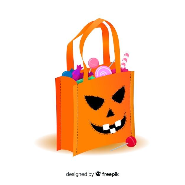 Creative halloween bag design Free Vector