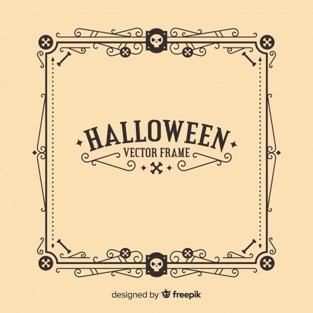 Creative halloween frame concept Free Vector