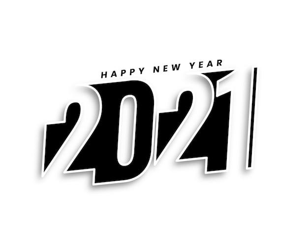 Creativo felice anno nuovo 2021 sfondo in stile 3d design Vettore gratuito