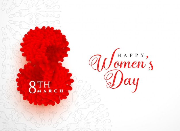 Creative Happy Womens Day Background Design Vector Free Download