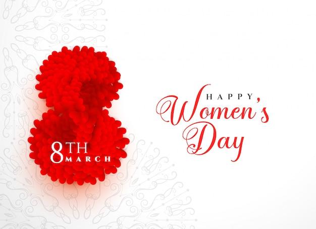Creative happy women's day background design Free Vector