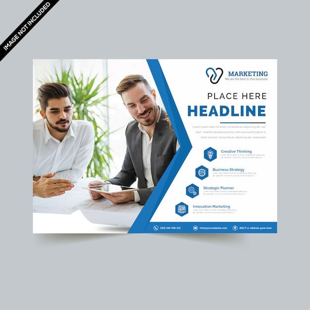 Creative horizontal flyer template premium vector Premium Vector