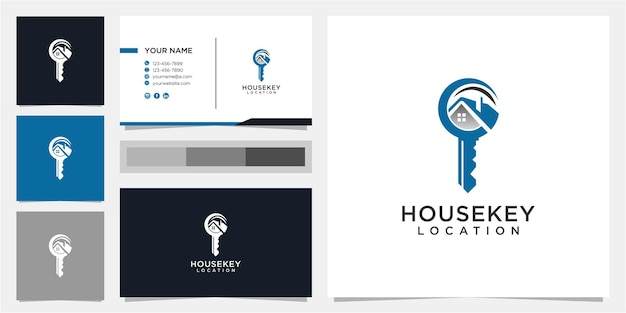 Creative house and key logo design template