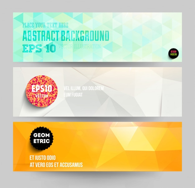 creative idea blank element multicolored Premium Vector