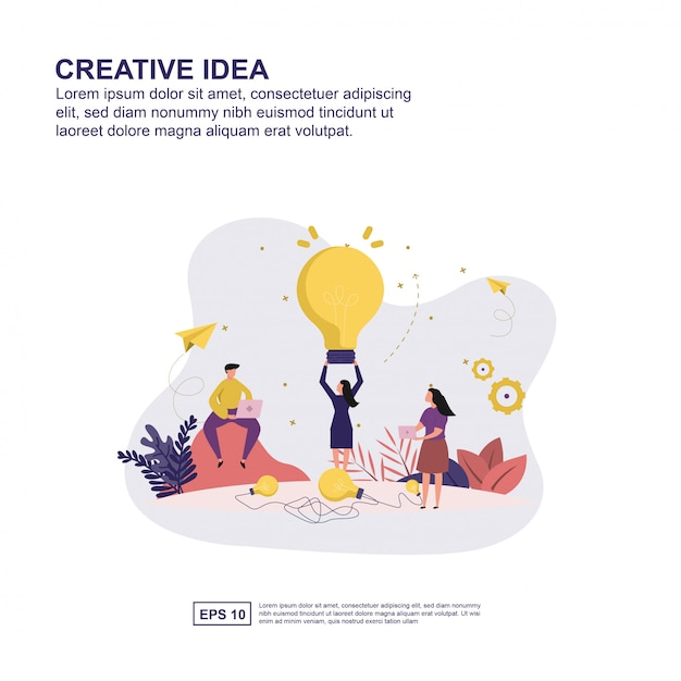 Creative idea concept Premium Vector