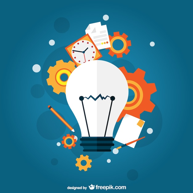 Creative idea concept Free Vector