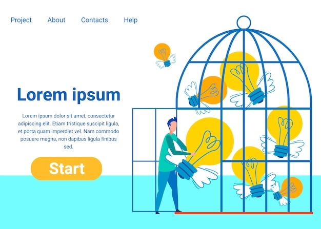 Шаблон креативной идеи плоской целевой страницы Premium векторы
