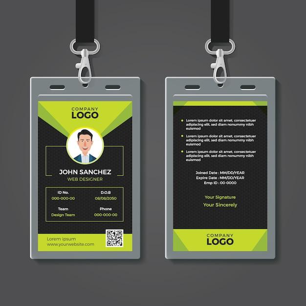 Creative identity card template Premium Vector