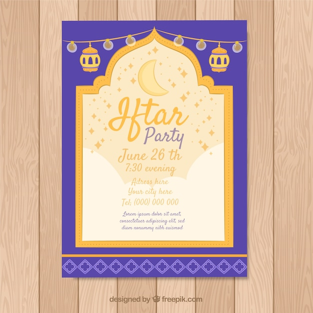 Creative iftar invitation template vector free download creative iftar invitation template free vector stopboris Gallery