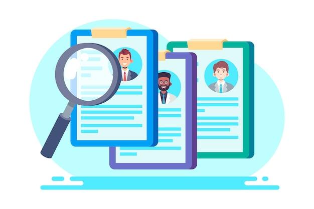 Creative illustration of recruitment concept Free Vector