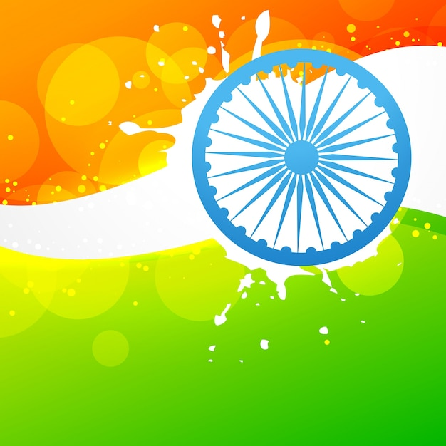 Creative indian flag design with wheel