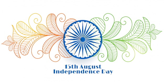 Creative indian independence day banner Free Vector