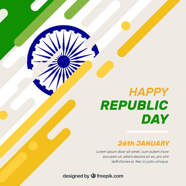 Creative indian republic day background Free Vector