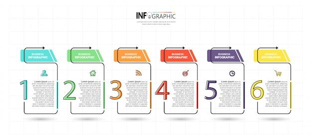 Creative infographic 5 steps template Premium Vector