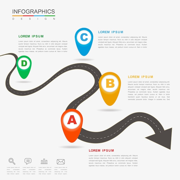Premium Vector Creative Infographic Design With Flat Bending Arrow Standing arrow is an indie rock band from trinidad and tobago indie rock song by the band standing arrow. freepik