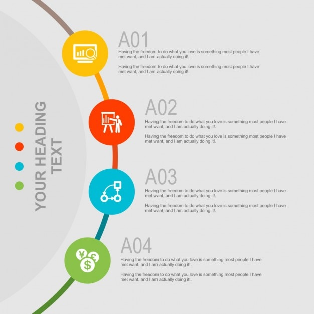 Creative infography template Free Vector