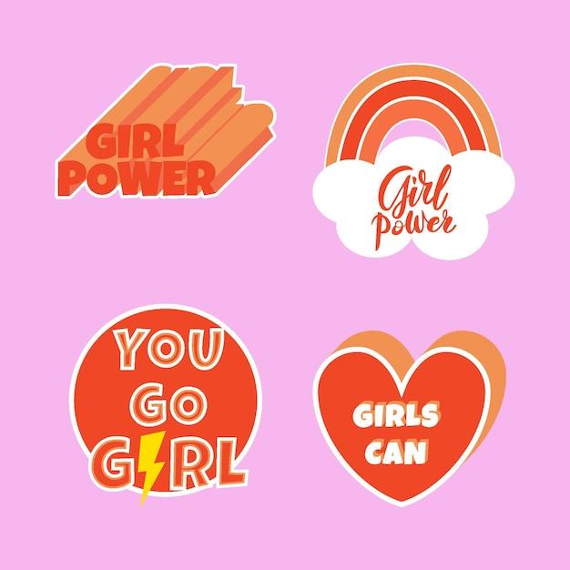 창의적인 국제 여성의 날 라벨 무료 벡터
