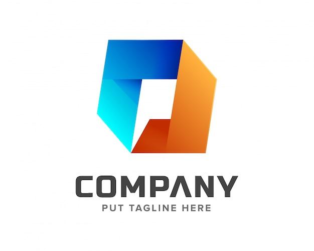 Creative intial letter p logo Premium Vector