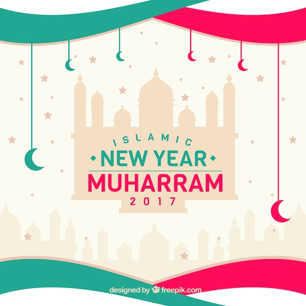 creative islamic new year background free vector