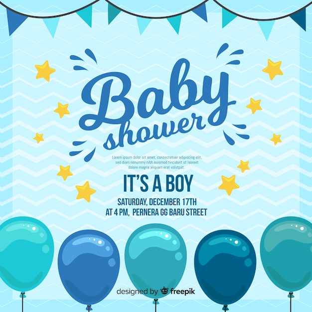 creative its a boy baby shower template vector free download