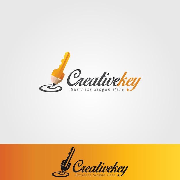 Creative key logo template vector premium download creative key logo template premium vector pronofoot35fo Images