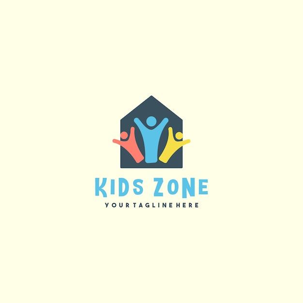 Креативный логотип детской зоны Premium векторы