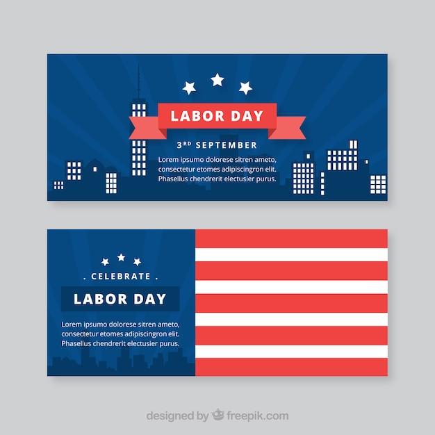 Creative labor day banners