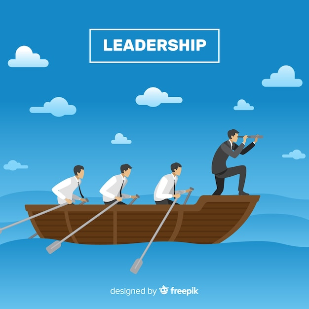 Creative leadership concept Free Vector
