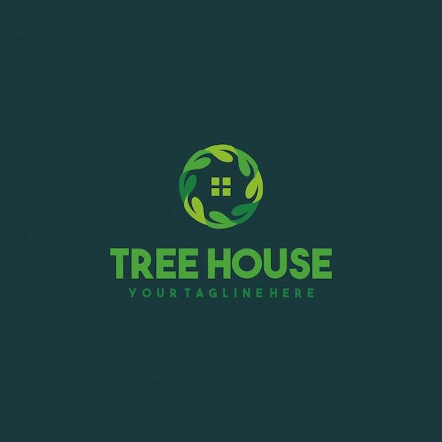 Креативный дизайн логотипа дома Premium векторы