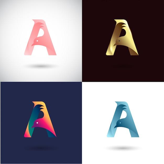 Creative letter a дизайн логотипа Premium векторы