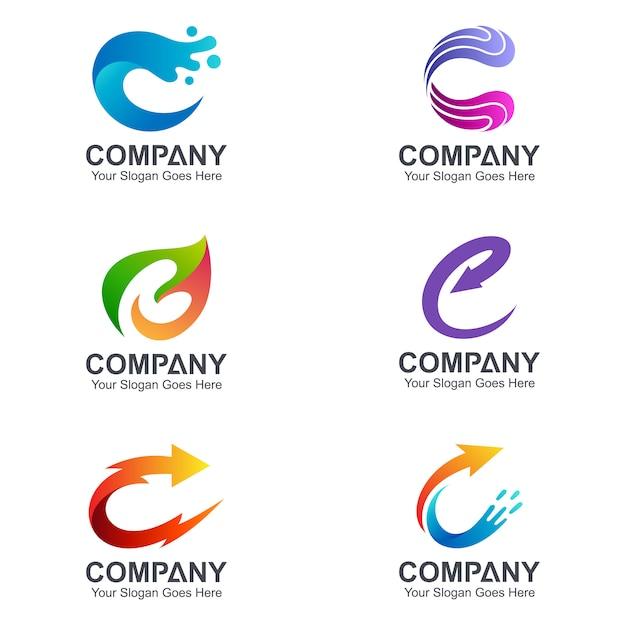 C Logo: Creative Letter C Logo Collection Vector