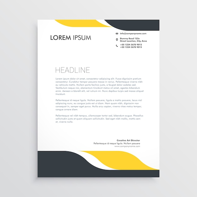 Creative Letterhead Design Template Vector Free