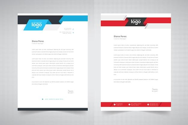 Creative letterhead Premium Vector
