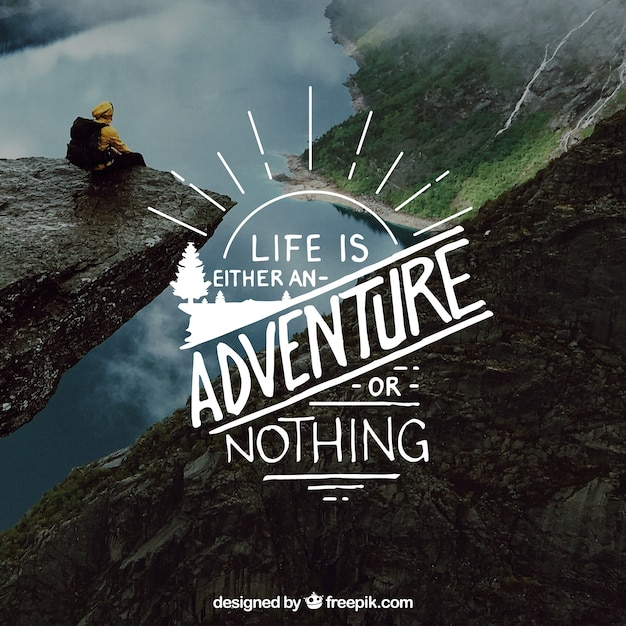 Creative Lettering And Quote Design On Nature Background