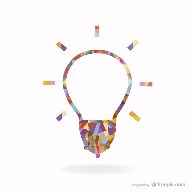 Creative light bulb design vector free download Blueprint designer free