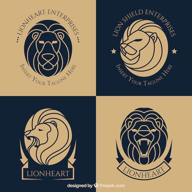 Creative lion logo template