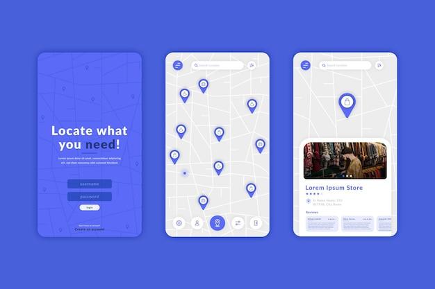 Modello di app per posizione creativa Vettore gratuito