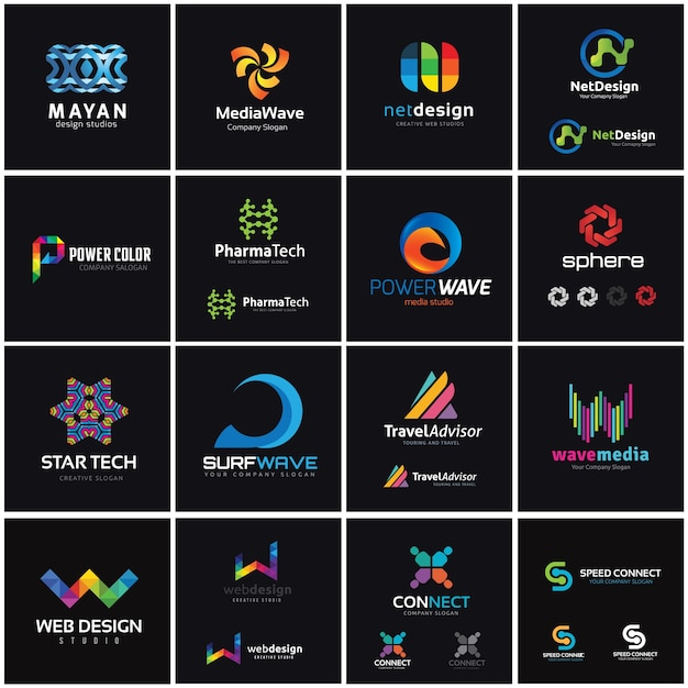 creative logo collection media and creative idea logo