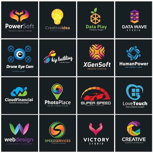 Creative logo collection, media and creative idea logo design