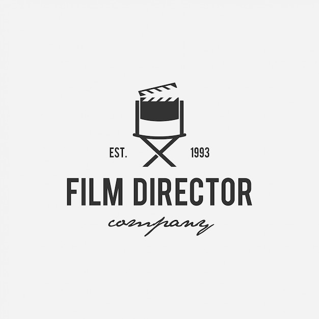 Creative logo design  film, cinema, director, tv company Premium Vector